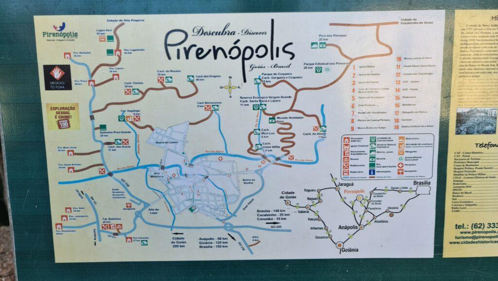 Mapa de Pirenópolis